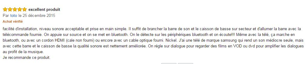 commentaire samsung